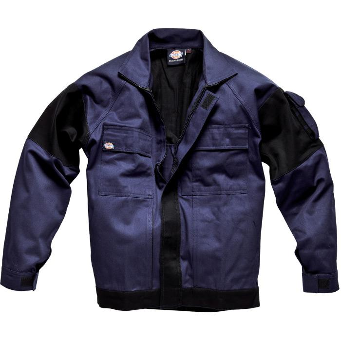 """Arbetsjacka """"GDT 290"""" - Dickies - 100% bomull - marinblå/svart"""