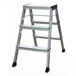 "Double folding steps ""Rolly"" - Krause - alu - 0.65 m standing height"