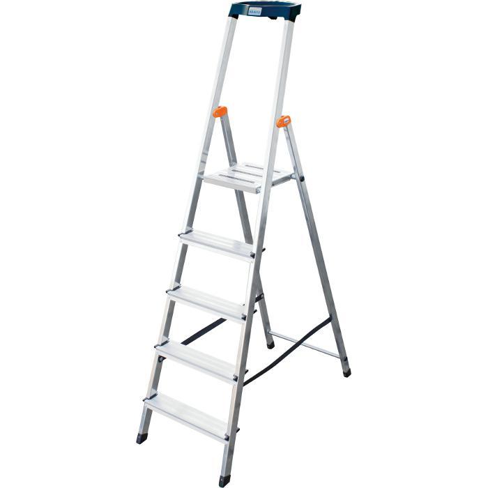 """Stufen-Stehleiter """"Safety"""" - Krause - 0,85 m bis 1,70 m Standhöhe"""