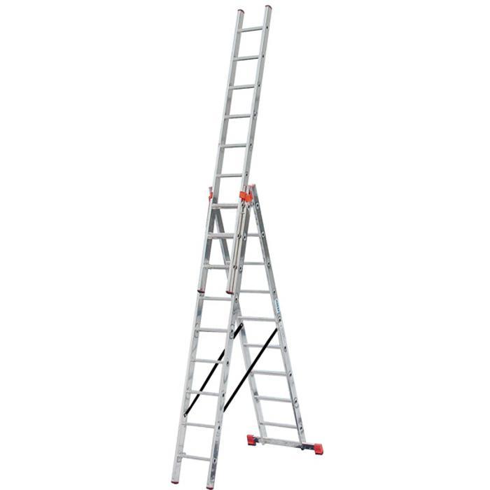 """Vielzweckleiter """"Tribilo"""" - Krause - 3,90 m bis 11,20 m Arbeitshöhe"""