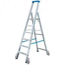 """Stufen-Stehleiter """"Stabilo"""" - Krause - fahrbar - 0,70 m bis 2,80 m Standhöhe"""