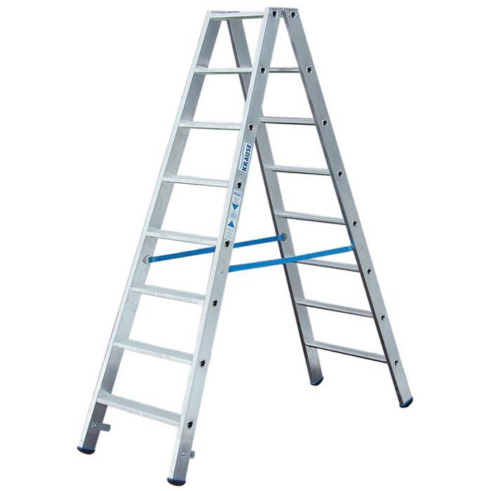 """Stufen-Doppelleiter """"Stabilo"""" - Krause - 0,75 m bis 2,80 m Leiterhöhe"""