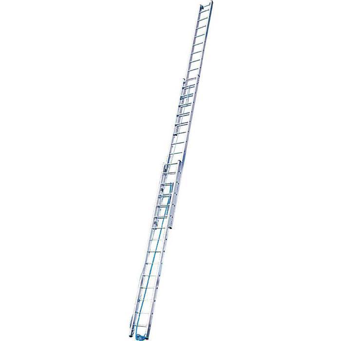 Seilzugleiter - Krause - dreiteilig - bis 12,50 m Länge