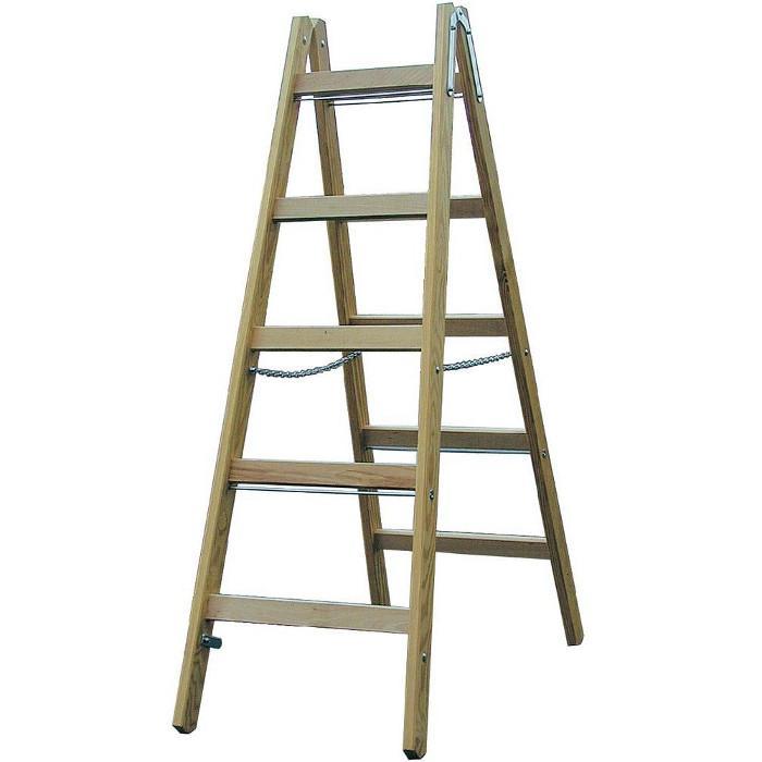 Sprossen-Doppelleiter - Krause - Holz - bis 3,20 m Leiterhöhe