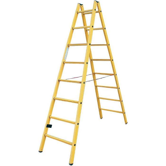 Sprossen-Doppelleiter - Krause - GFK-Profil - Kunststoff - bis 3,85 m Leiterhöhe