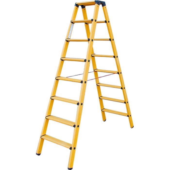 Stufen-Doppelleiter - Krause - GFK - Kunststoff - bis 2,25 m Leiterhöhe