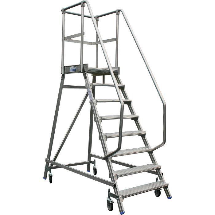 Podestleiter fahrbar - Krause - einseitig begehbar - bis 1,90 m Höhe