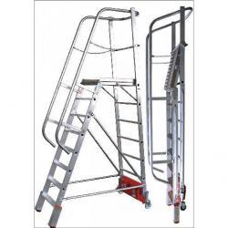 "Podestleiter ""Vario kompakt"" - Krause - 1,10 m bis 3,28 m Höhe"