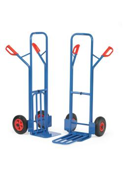 Package trolley - 300 kg - Height 1300 mm - with sheet steel and Klappschaufel