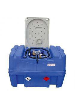 Mobil Bränsletank - 400 liter - För diesel - pump 40 l/min 12V DC - med räkneverk och låsbart lock