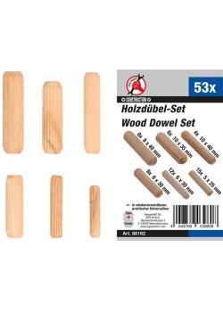 Wooden dowel assortment - (Ø x length) Ø 5 x 25 mm to 10 x 40 mm - 53 pcs.