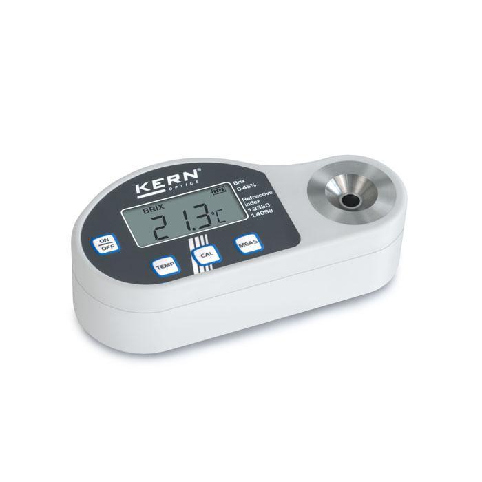 Digitales Refraktometer - Anwendungsbereich Zucker - mit Brixskala und Brechungsindex