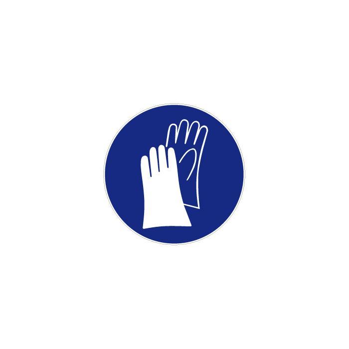 """Gebotszeichen """"Handschutz benutzen"""" - Durchmesser 5-40 cm"""
