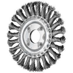 Rundbürste - PFERD - gezopft - Stahldrahtbesatz - Zopfanzahl 24 - Bezeichnung RBG 11512/22,2 ST 0,50 - Bürsten-Ø 115 mm - Besatzbreite x -länge 12 x 22 mm - Zopfanzahl 24