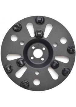 """PKD-Topfscheibe """"PRO"""" - Durchmesser 180 mm - mit 6 PKD-Segmenten und 3 Stützsegmenten"""