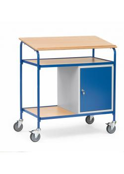 Rolltop skrivebord - med skriveflate og stålskap - 100 kg