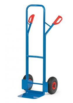 Tubular steel trolley - 300 kg - Height 1300 mm - rubber / pneumatic tires
