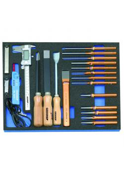 Tool assortment - in check-tool module - Dimensions - 316.5 x 390 x 35 mm - 22 pcs