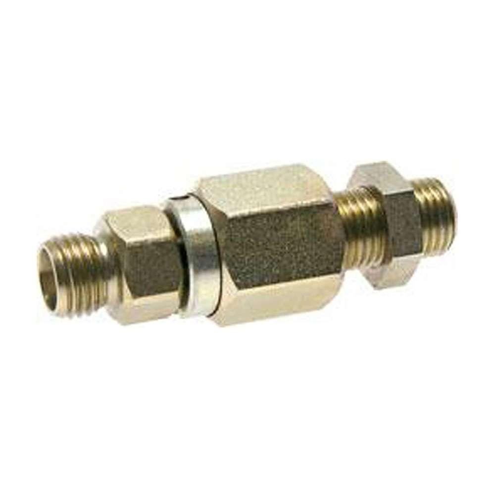 Kugelgeführte Schottdrehverschraubung - Stahl verzinkt - 10 bis 350 bar