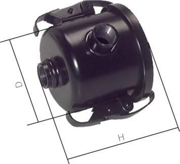 Vakuumfilter mit Patrone - Saugleistung 10 bis 680 m³/h - Anschlussgewinde G 3/8 bis 3 Zoll - Porenweite 5 bis 7 µm
