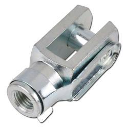 Gabelköpfe - mit Bolzen - Stahl verzinkt / VA 1.4035 - Gew. M10-M16 - für Rundzy