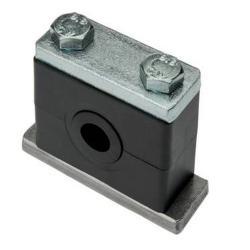 Rohrschelle mit Elstomereinsatz - Deckplatte - Rohr-Ø 10 bis 32 mm - leichte Baureihe 4 oder 6 - Preis per Stück