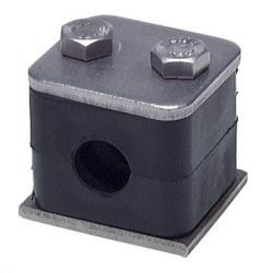 Rohrschelle - mit Anschweiß- und Deckplatte - leichte Baureihe 1 bis 6 - Rohr-Ø 6 bis 48,3 mm - Preis per Stück