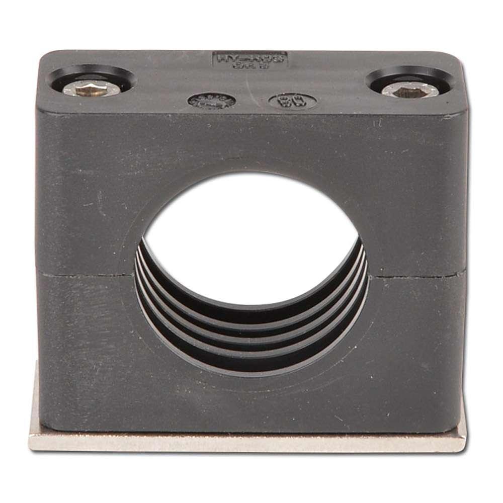 Turbo Rohrschelle - Kunststoff mit Anschweißplatte - Rohr-Ø 10 bis 48,3 VL98