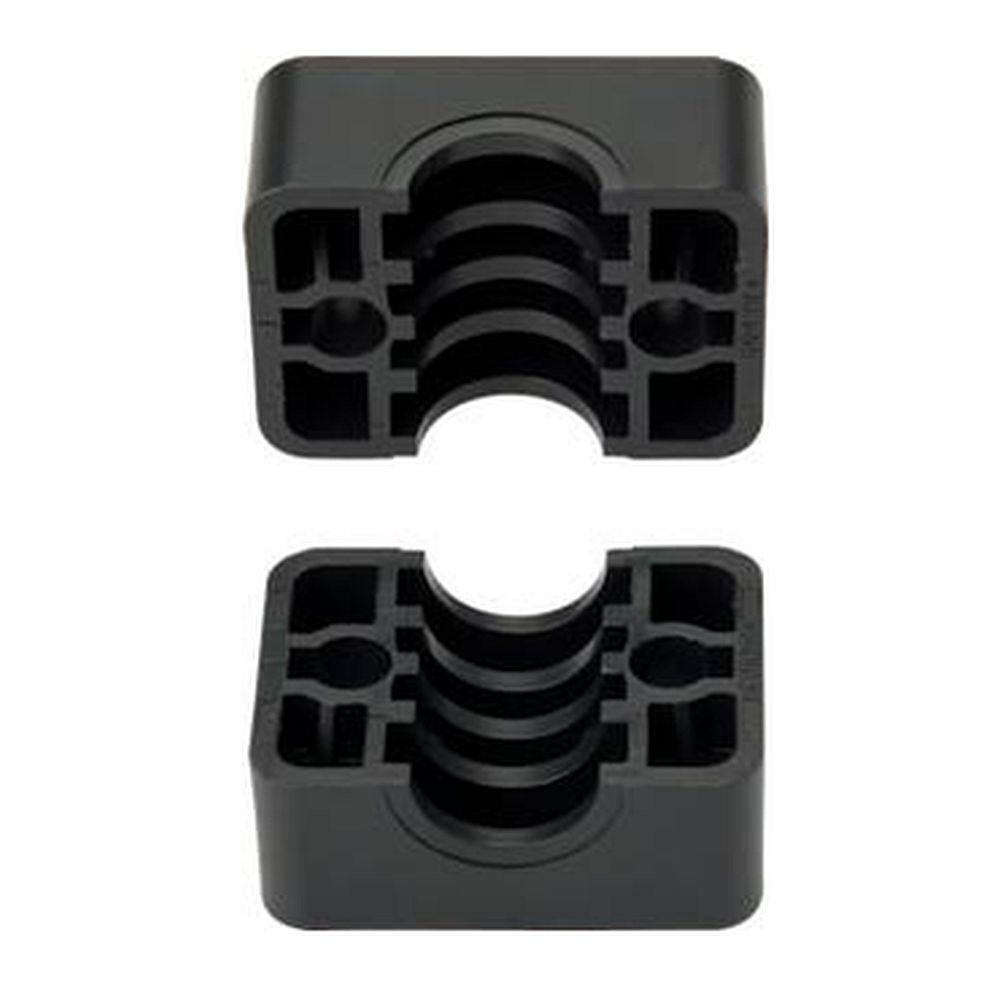 Klemmbacken für Rohrschellen - Kunststoff - leichte Baureihe 0 bis 6 - Rohr-Ø 6 bis 50,8 mm - Preis per Set