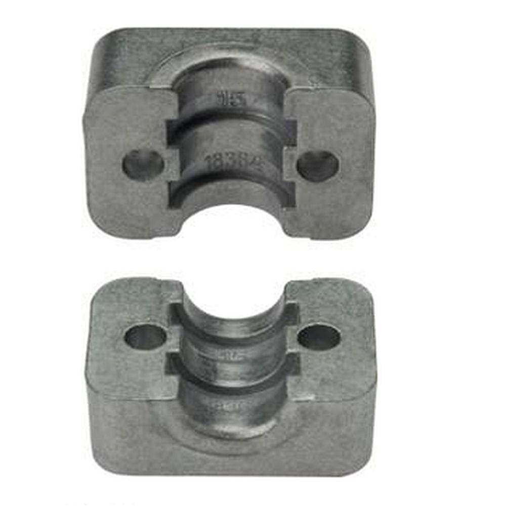 Klemmbackenpaar für Rohrschellen - Aluminium - leichte Baureihe 1 bis 6 - Rohr-Ø 6 bis 50,8 mm - Preis per Set