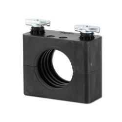 Rohrschelle - leichte Baureihe 0 bis 6 - Rohr-Ø 6 bis 50,8 mm - mit Tragmuttern für C-Schienen - Preis per Stück