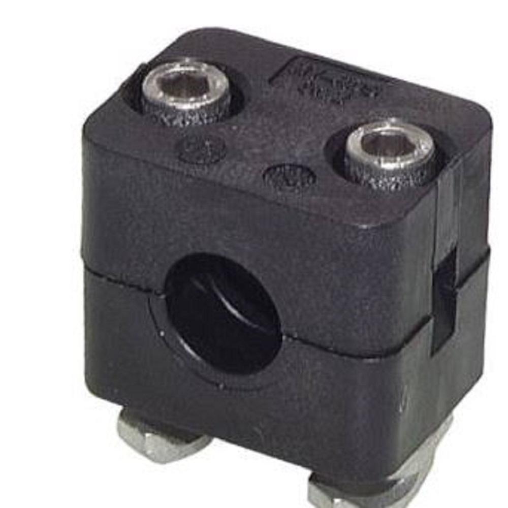 Rohrschelle - mit Trageschienenmutter - Typ KMA - für C-Tragschienen - Edelstahl - Rohr- Ø 10 bis 48,3 mm - Preis per Stück