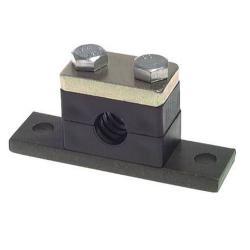 Rohrschelle - Kunststoff PP - gebohrte Befestigungsplatte - schwere Baureihe 1 bis 4 - Rohr-Ø 6 bis 60,3 mm