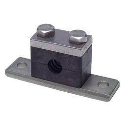 Rohrschelle - Edelstahl-Anschweißplatte - Rohr-Ø 6 bis 60,3 mm - schwere Baureihe 1 bis 4 - Preis per Stück