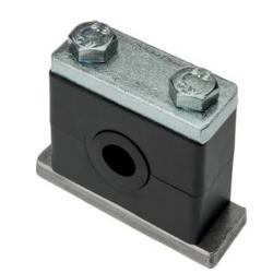 Rohrschelle - mit Elastomereinsatz und Deckplatte - schwere Baureihe 2 bis 7 - Rohr-Ø 6 bis 140 mm - Preis per Stück