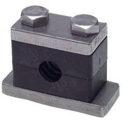 Rohrschelle - mit Anschweiß- und Deckplatte - schwere Baureihe 1 bis 4 - Rohr-Ø 6 bis 60,3 mm - Preis per Stück