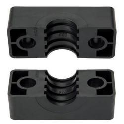 Klemmbackenpaar für Rohrschellen - Kunststoff - schwere Baureihe 1 bis 5 - Rohr-Ø 6 bis 66 mm - Preis per Set