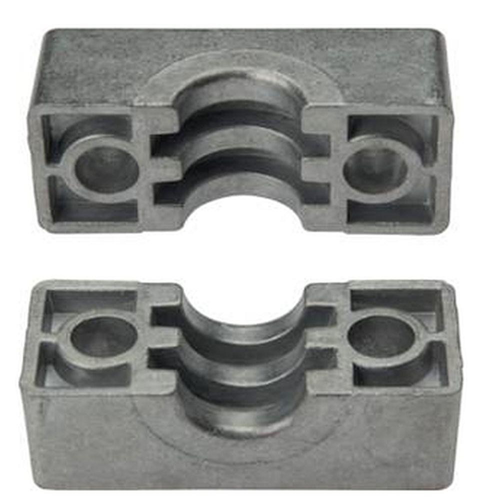 Coquilles pour collier pour tube - série lourde - aluminium