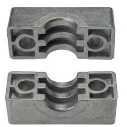 Klemmbackenpaar für Rohrschellen - Aluminium - schwere Baureihe 1 bis 4 - Rohr-Ø 6 bis 60,3 mm - Preis per Set