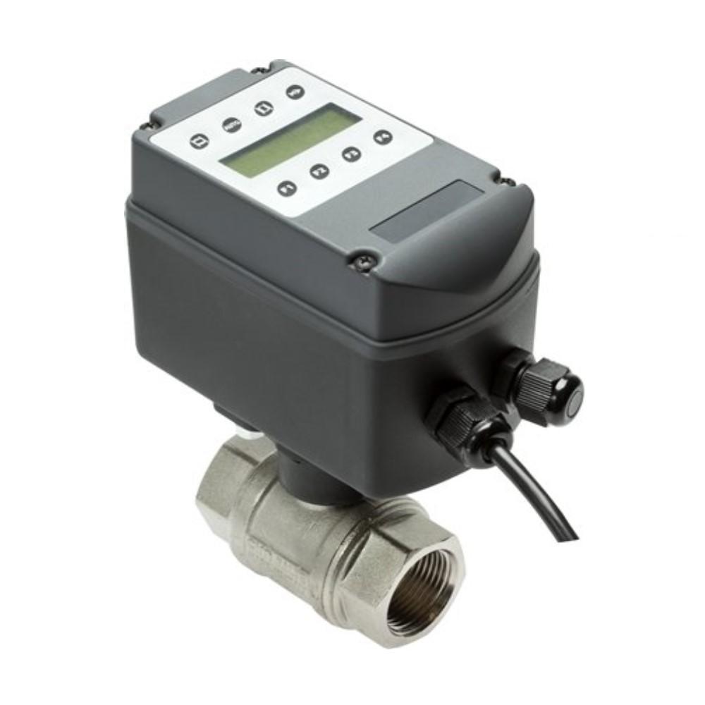 """Kugelhahn - Messing vernickelt - elektr. Antrieb - Timerfunktion - IG G 1"""" bis G 2"""" - DN 25 bis 50 - PN 0 bis 16"""