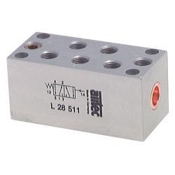 Valve pneumatique avec position de ressort de rappel- 5/2-voies - 0 jusque 10 ba