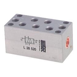 Valve pneumatique 5/2-voies pour air comprimé - air comprimé -vide - -0,95-12 ba