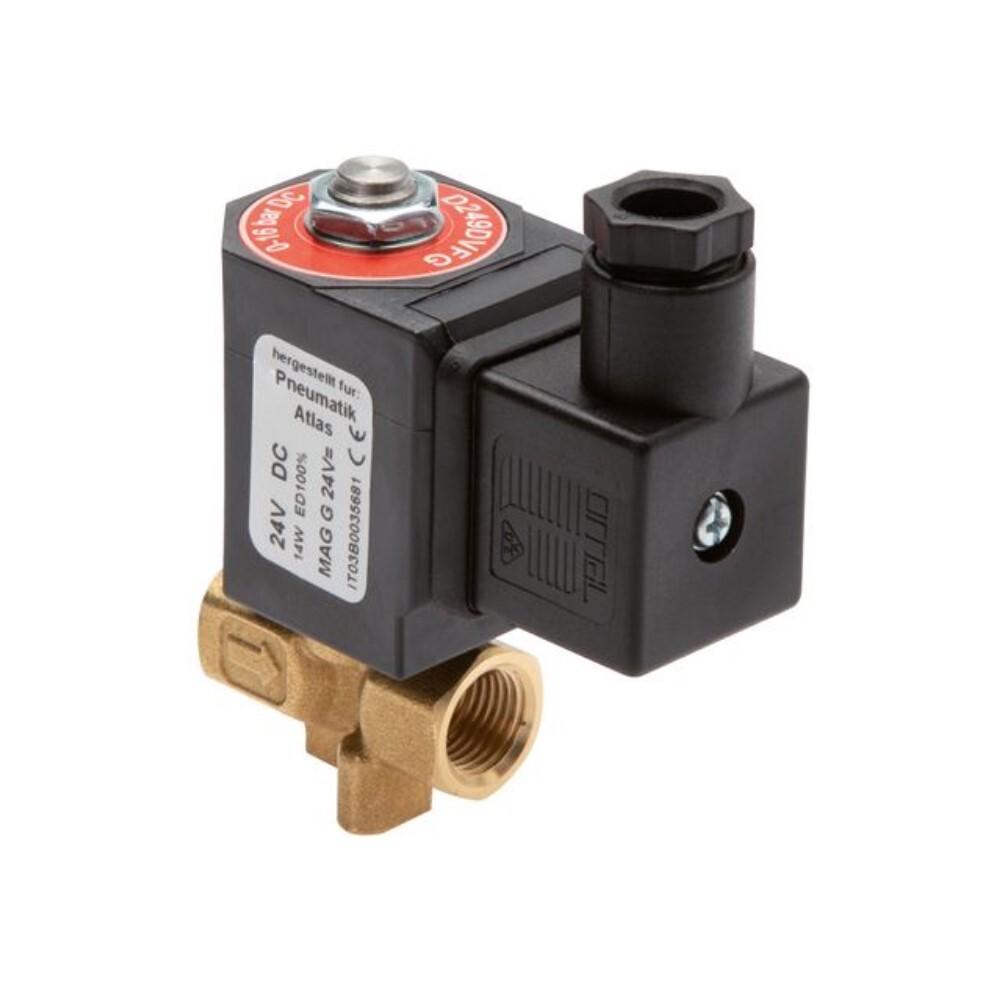 """Électrovanne 2/2 - normalement fermée - pour air comprimé, eau et huile - de 0 à 16 bar - G 1/8"""" à 1"""""""