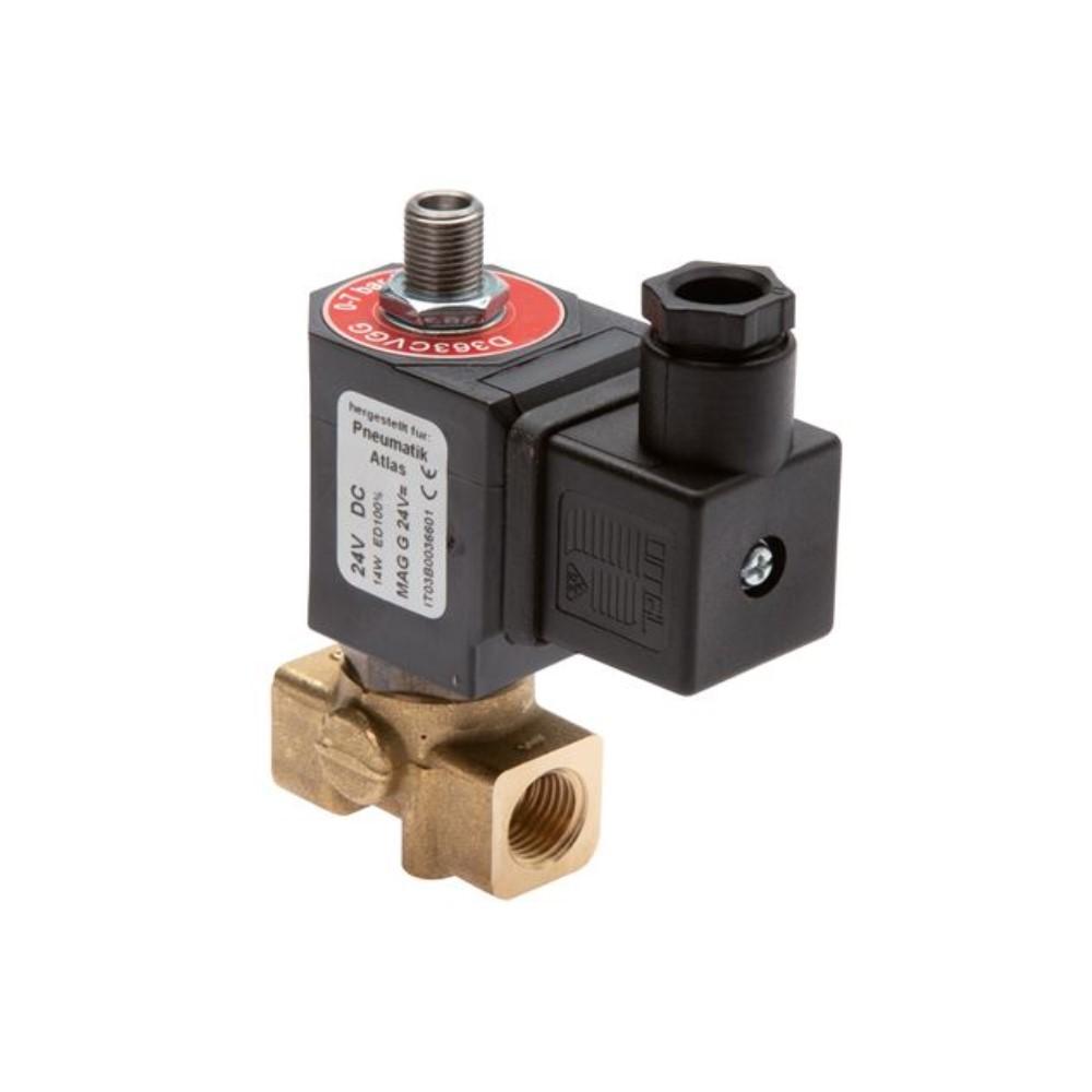 """Électrovanne 3/2 - normalement fermée - pour air comprimé, eau, huiles, mazout - 0 à 16 bar - G 1/2"""" et G 3/4"""""""