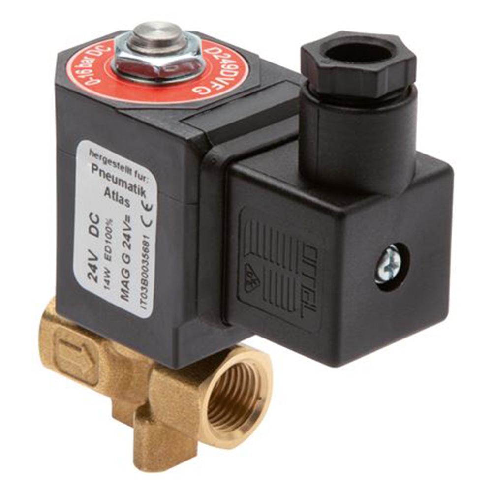 """Électrovanne 2/2 - normalement ouverte - pour air comprimé, eau et huile - 16 bar - G1/4"""" à G2"""""""