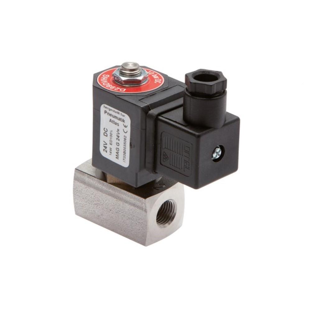 """Électrovanne 2/2 - normalement ouverte - acier inoxydable - pour air comprimé, eau et huile - 20 bar - G1/4"""" à G2"""""""