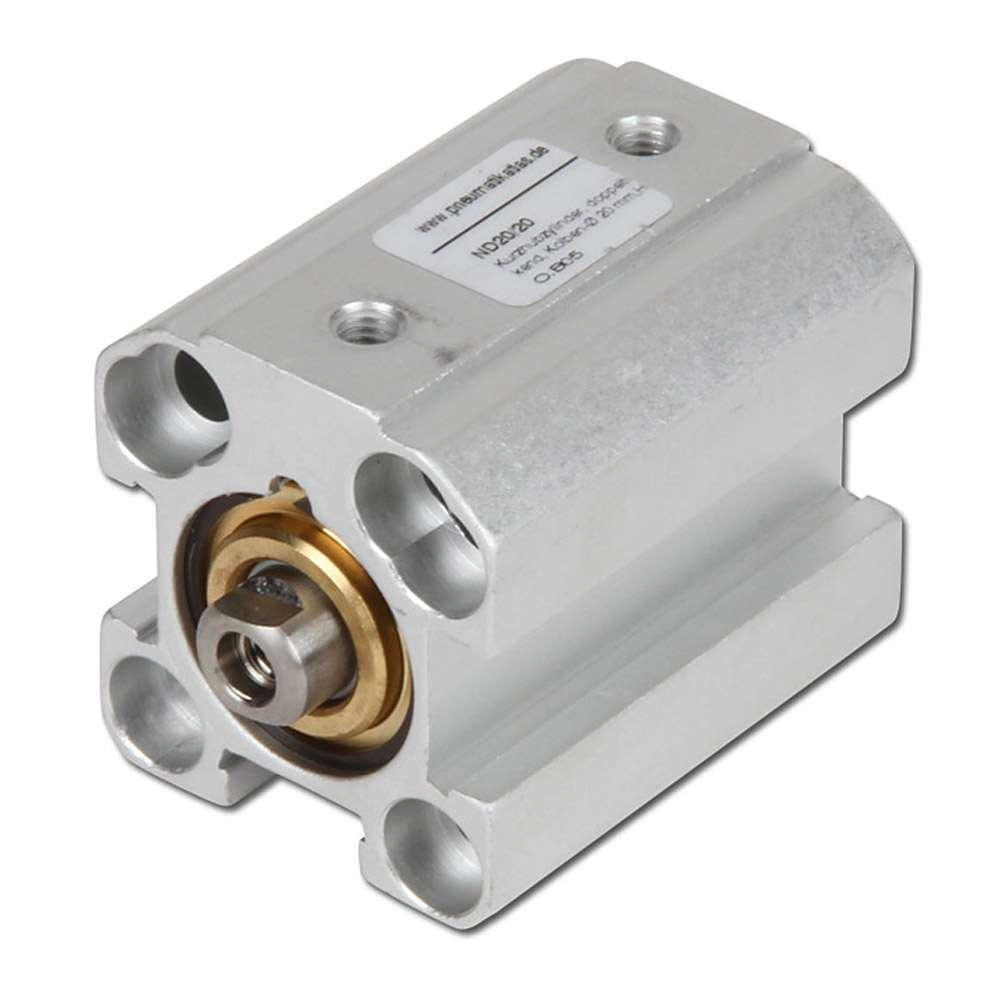 Kurzhubzylinder - doppeltwirkend - Kolben-Ø 16 bis 100 mm - Hub 5 bis 100