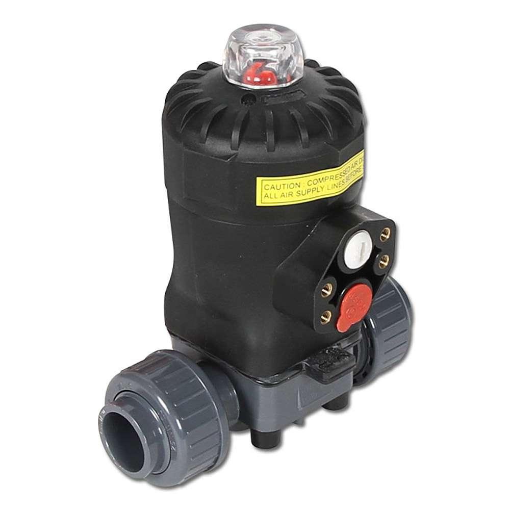 Membranventil - PVC - Anschluss 20 bis 63mm - mit Klebemuffe - einfachwirkend -