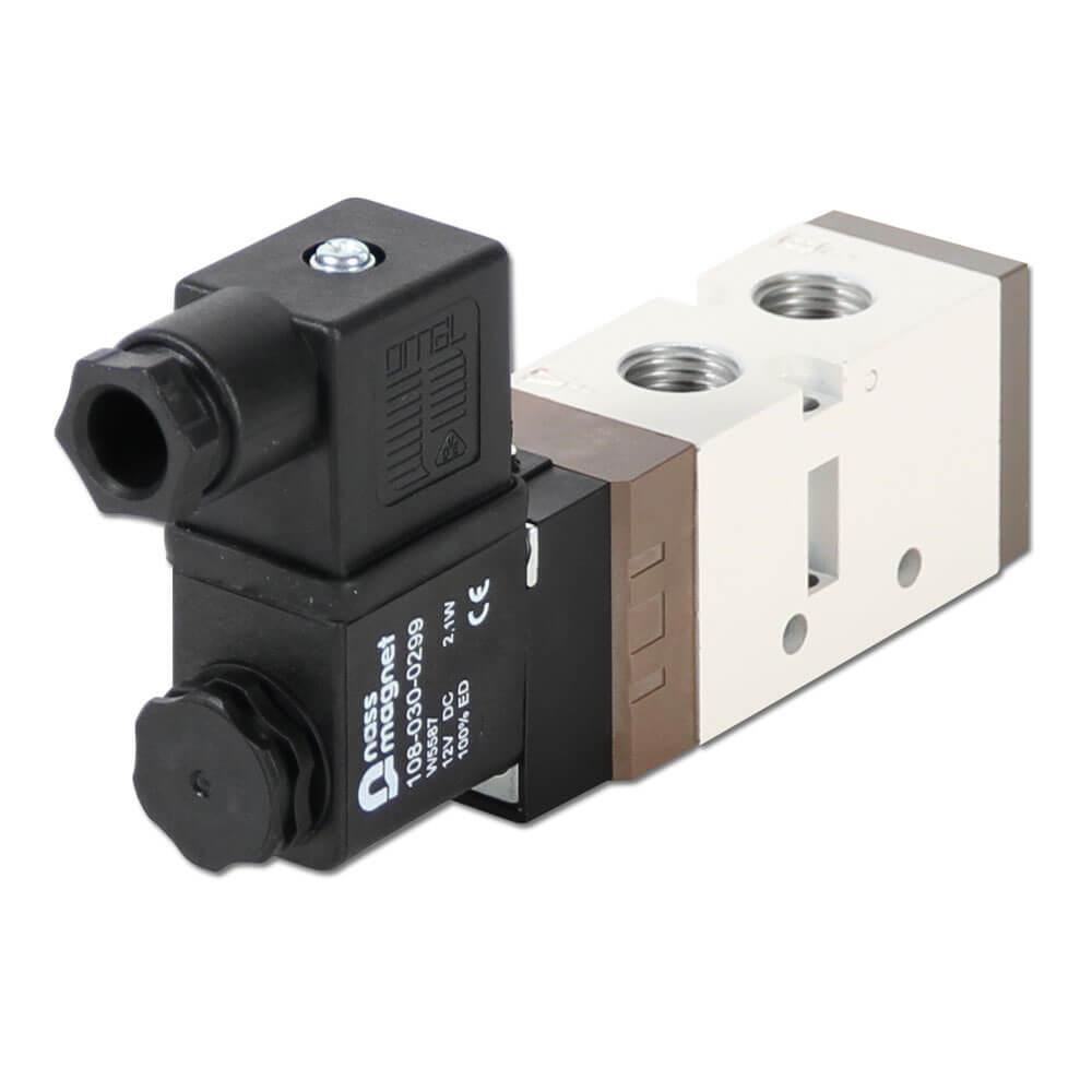 """Magnetventil - 5/2-vägs -  G 1/4"""" - byggserie SF4000"""