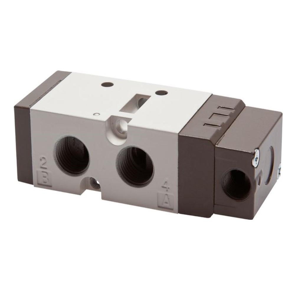 """Pneumatikventil - 5/2-Wege - Aluminium - für Druckluft - IG G 1/4"""" - Impulsventil oder Federrückstellung - PN 1,5 bis 10"""